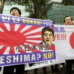 「竹島の日」記念式典 韓国人活動家らと右翼団体がもみ合い